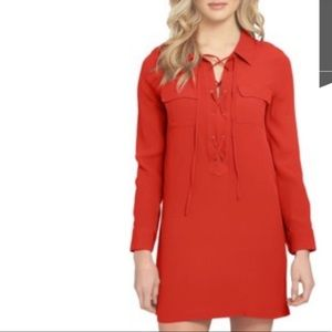 NWT Solutions Red Shirt Dress size Large
